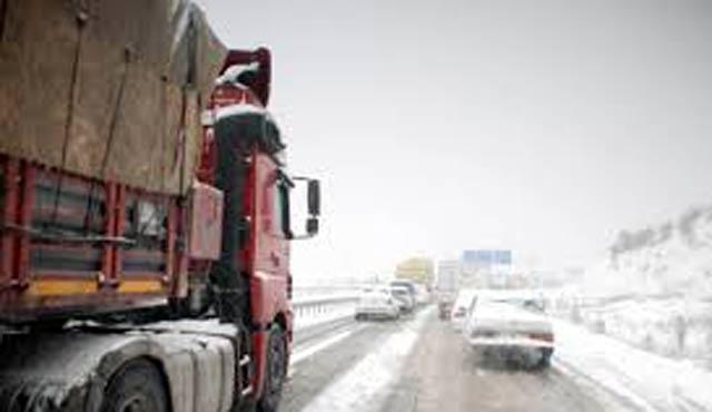 Bursa-Kütahya yolu kardan kapandı