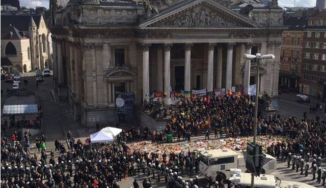 Brüksel'de 'Korkuya Karşı Yürüyüş' olaylı bitti