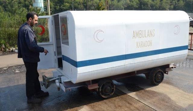 Maden ocağına yeraltı ambulansı