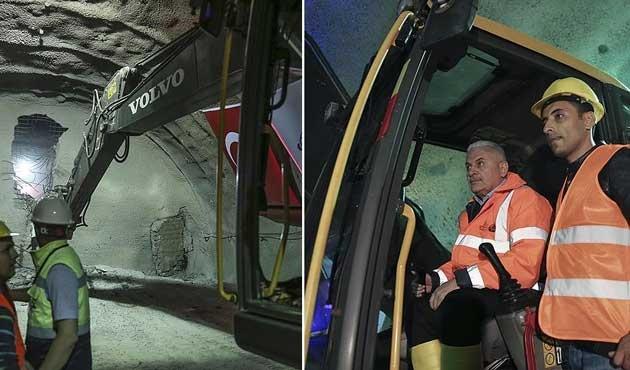 Ilgaz Tüneli'nde son delme işlemi yapıldı