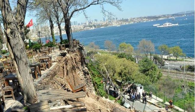 Gülhane Parkı'nda duvar çöktü, enkaz altında kalanlar var