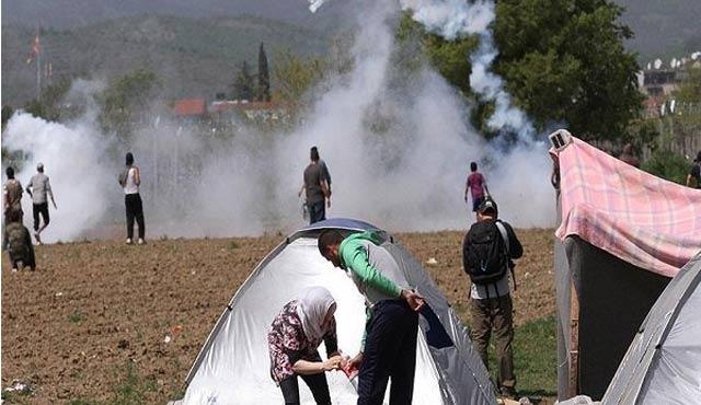 Yunanistan'daki sığınmacı kampında gerginlik