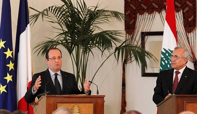 Fransa Cumhurbaşkanı Hollande, Lübnan'da
