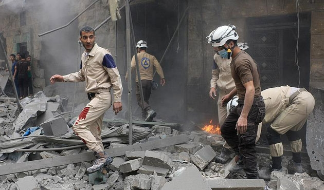 Halep'te üç saatte, üç hastane vuruldu