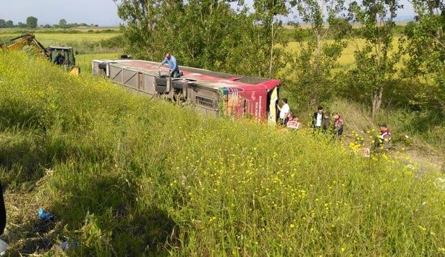 Çanakkale'de otobüs kazası; 4 ölü