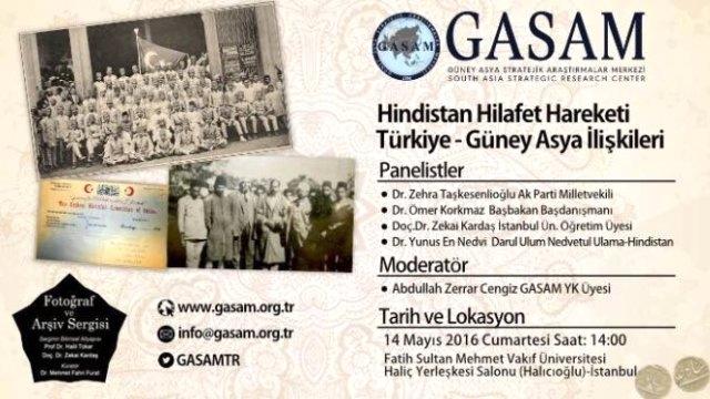 Hindistan Hilafet Hareketi İstanbul'da tartışılacak