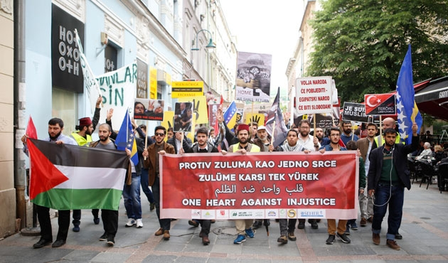 Saraybosna'da zulme karşı yürüyüş