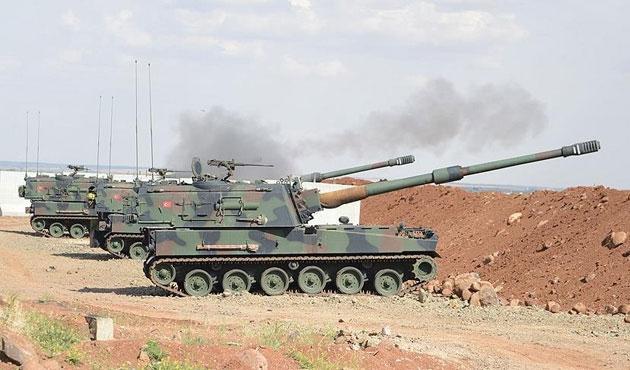 Kilis sınırından IŞİD hedefleri obüslerle vuruluyor