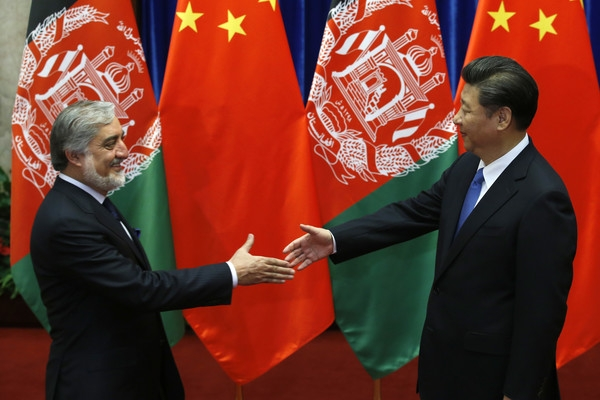 Çin lideri Şi, Afgan yetkilileri kabul etti