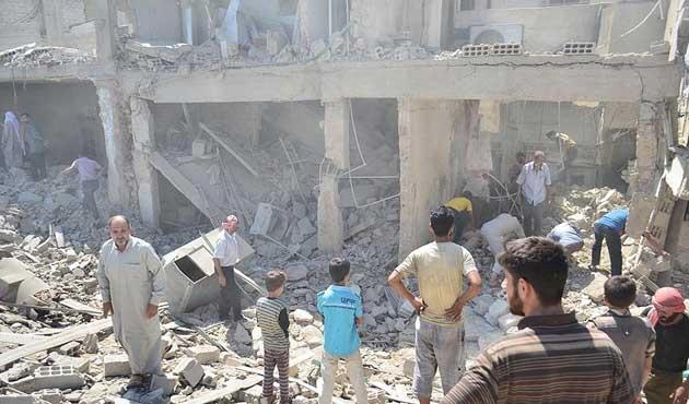 Humus'ta yine yerleşim yerini bombalandı