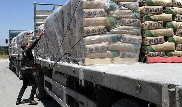 Gazze'ye yedi hafta sonra çimento giriyor