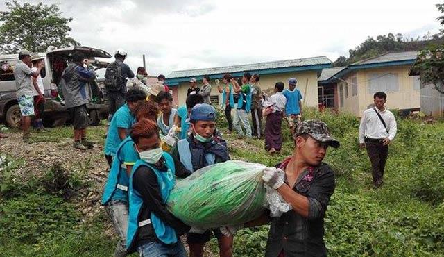 Myanmar'da yeşim taşı madeninde heyelan