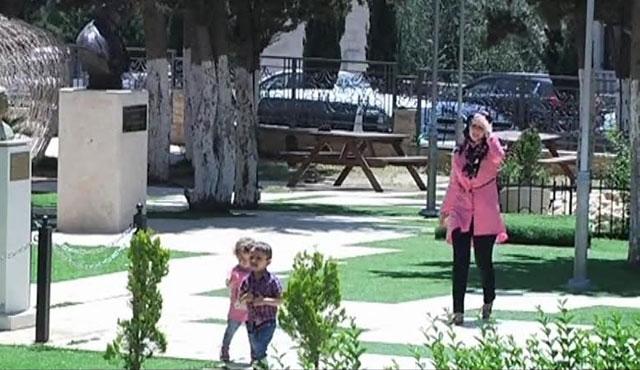 Ramallah'ın teneffüs mahalli: Milletler Bahçesi