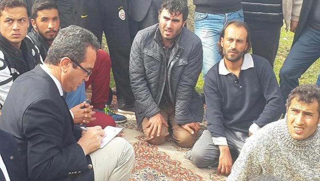 CHP heyetinden grevdeki madencilere ziyaret