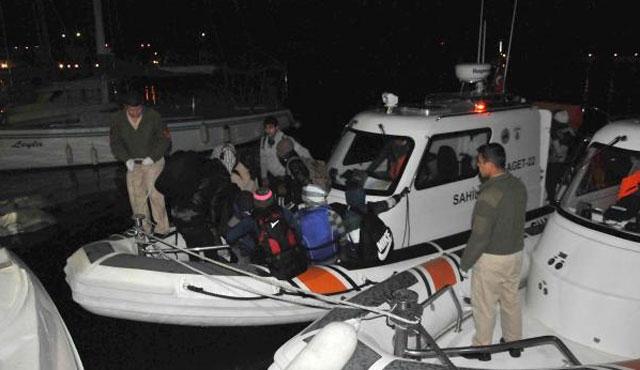Ayvacık açıklarında 34 mülteci yakalandı