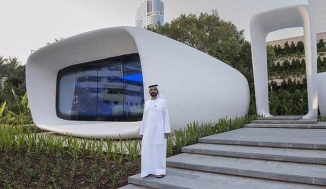 Dubai'de 3D ev açıldı