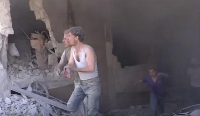 Halep'te ekmek fırını bombalandı