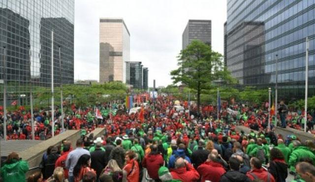 Belçika'da kamu çalışanları grevde