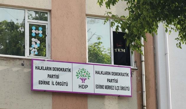 HDP Edirne il binasında arama