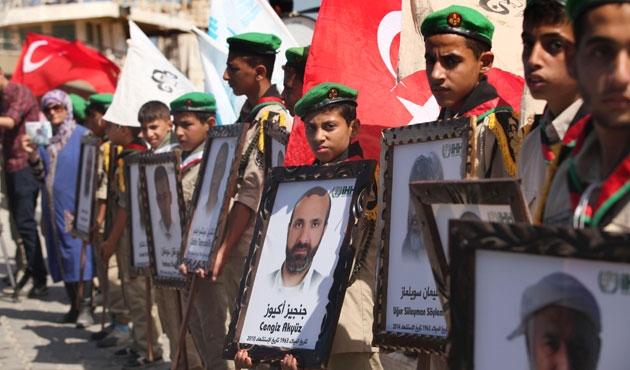 Gazzeliler Mavi Marmara için toplandı