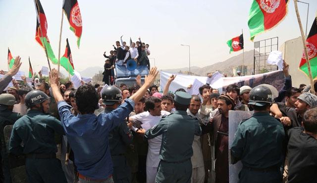 Kabil'de Taliban karşıtı gösteri