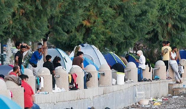 Yunanistan'da sığınmacı kampında kavga