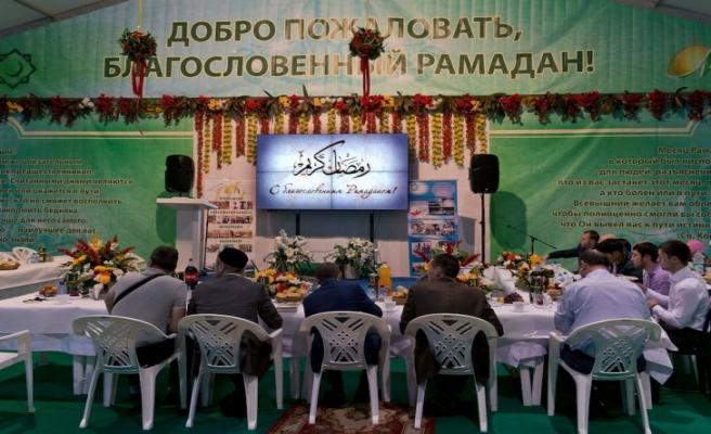 Moskova'ya Ramazan çadırı kuruldu