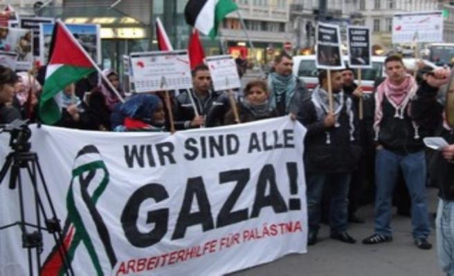 Avusturya'da 'İsrail'in Gazze ablukası'na protesto