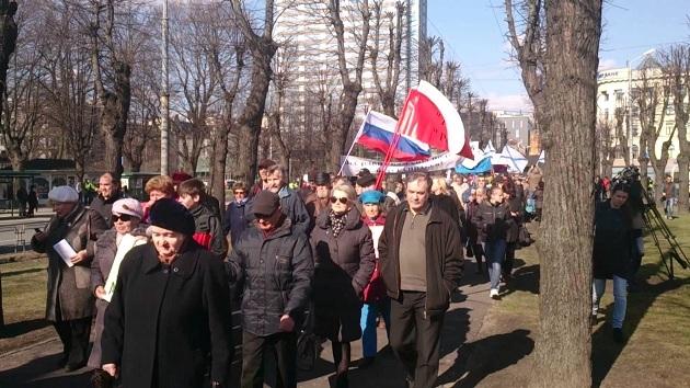Letonya'da ABD askerlerine protesto