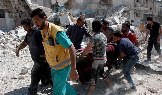 Halep'e varil bombalı saldırı: 15 ölü