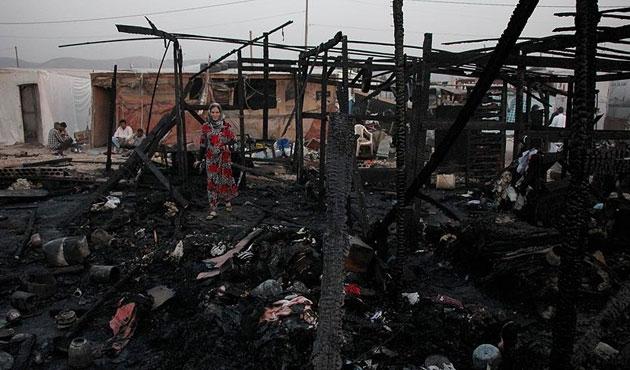 Sığınmacı merkezindeki yangında kundaklama şüphesi