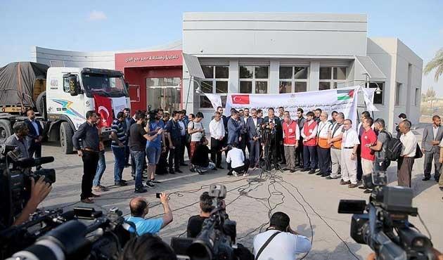 Yardımların ilk bölümü Gazze'ye ulaştı