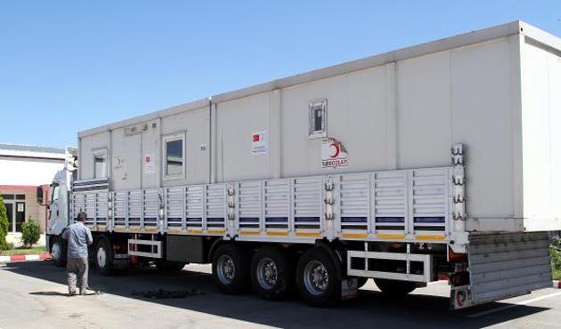 Irak'taki evsizlere Kızılay'dan 500 konteyner
