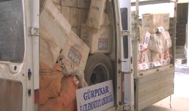 Van'da 125 bin paket kaçak sigare ele geçirildi