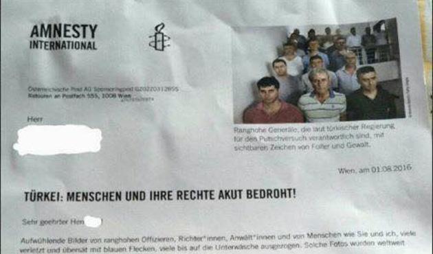 Avusturya Af Örgütü, darbecilerin haklarını savunmak için para istedi