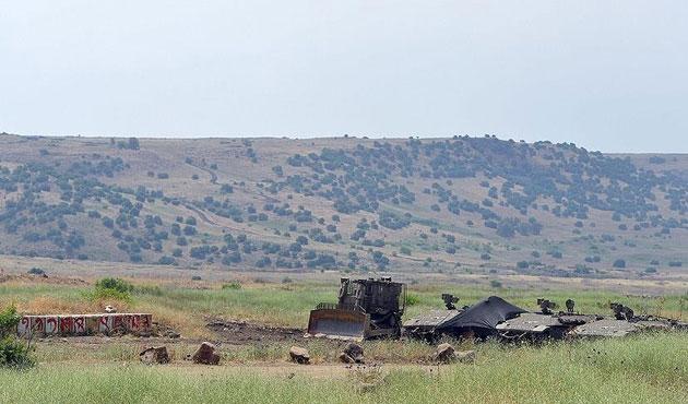 Golan Tepeleri'ne füze düştü