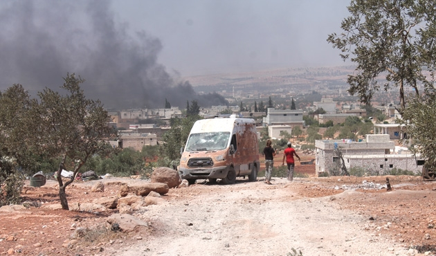 Halep'te füze saldırısı