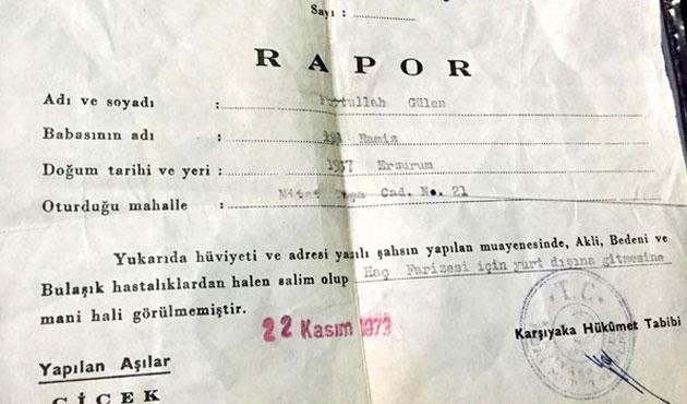 Gülen'in 43 yıllık raporunu saklayan polis gözaltında