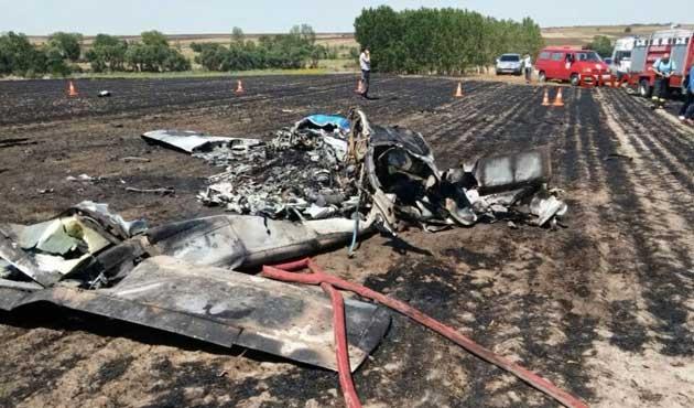 Çorlu'da eğitim uçağı düştü: 2 ölü