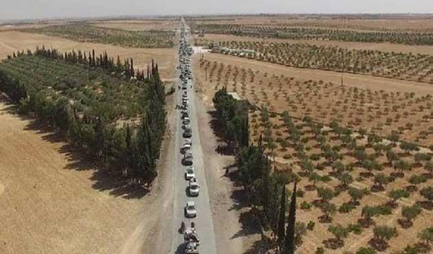 Menbiç'ten kaçan IŞİD görüntülendi