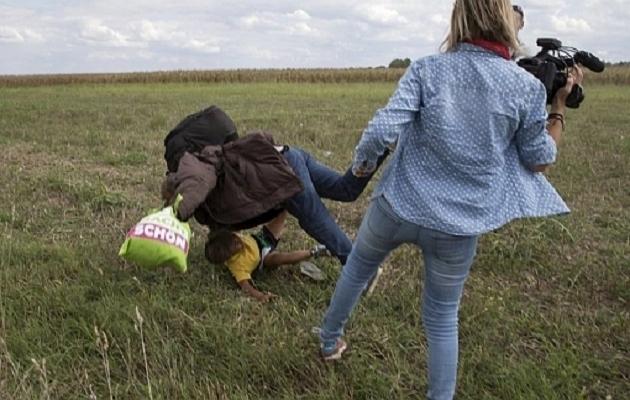 Sığınmacıya tekme atan kameraman yargılanacak
