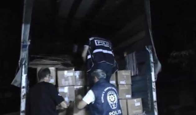 Edirne'de izinsiz toplanan yardıma el konuldu