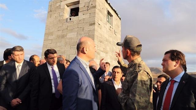 İçişleri Bakanı Soylu Tendürek Dağı'nda