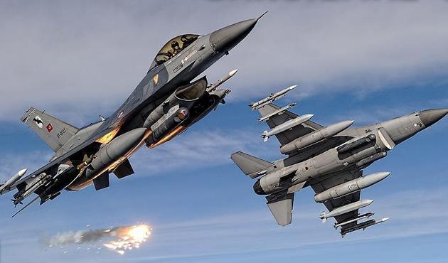 TSK IŞİD'i havadan vurdu