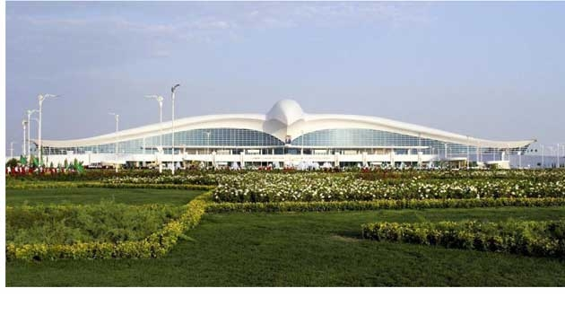 Türkmenistan'ın yeni havaalanı açıldı