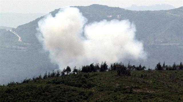Suriye rejiminden Cebel Ekrad'a top atışı