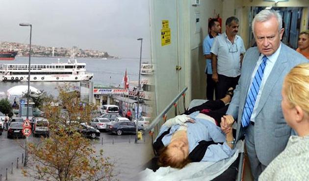 Şişli Belediyesi'nin Boğaz gezisinde kaza; 20 yaralı