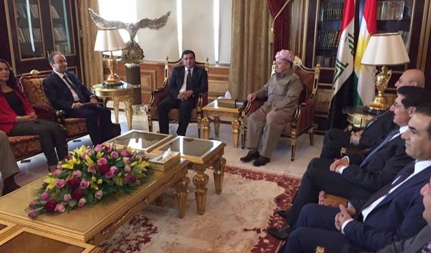 Demirtaş başkanlığındaki HDP heyeti Barzani ile görüştü