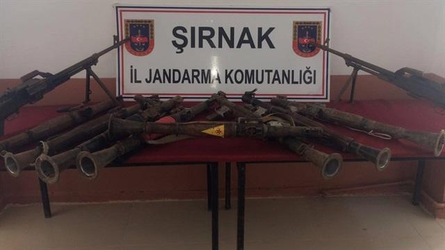 Şırnak'ta YPG amblemli roketatar yakalandı