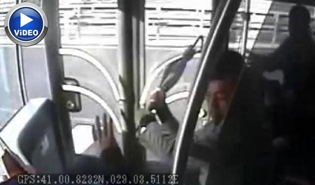 Şoföre saldırı anı metrobüs kamerasında  | VİDEO